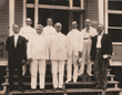 The personnel of the third Isthmian Canal Commission, 1907, including General Goethals in the center of the front row.