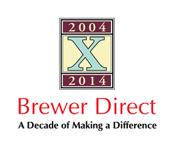 Brewer Direct 10th Anniverary Logo