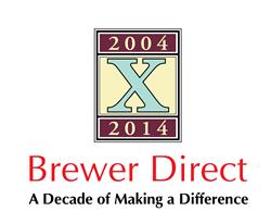 Brewer Direct 10th Anniverary Logo