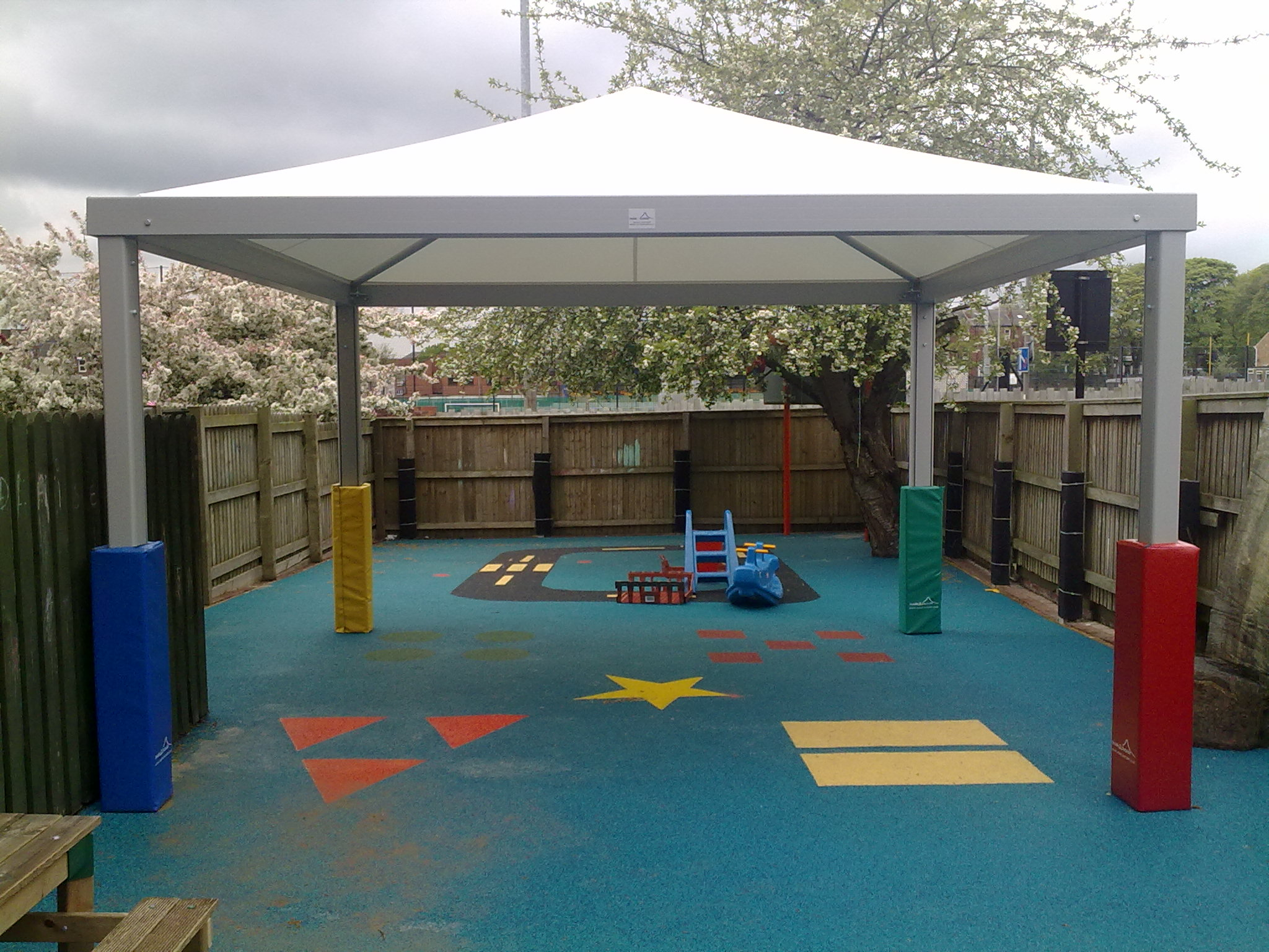 School CanopiesSchool canopy shelters u0026 walkways ... & Last Chance to Win a Best-selling QUBE™ Tensile Canopy for Your ...