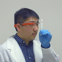 Holomic Google Glass platform for Rapid Diagnostic Testing