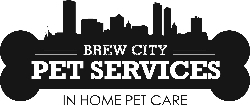 Brew City Pet Services logo, Milwaukee pet sitting, Milwaukee dog walking