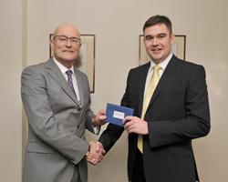 Andrew Grzesinski, Group Managing Director, Macrae & Dick Ltd with Ross Wilkie, Sales Manager, Macrae & Dick Honda, Aberdeen