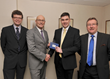 James Hamilton, Group Marketing Manager, Andrew Grzesinski, Group Managing Director, MRoss Wilkie, Sales Manager, Macrae & Dick Honda, Aberdeen and Crawford Hewllett, General Manager, Macrae & Dick Honda Aberdeen