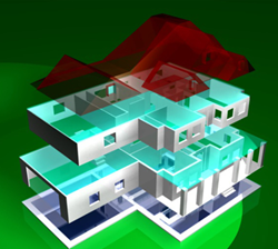 3D printing model of house plan
