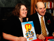 Heimlich Heroes program manager Terri Huntington and Dr. Henry Heimlich, who invented the  Heimlich Maneuver. (John Johnston Photo)