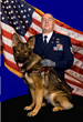 "Fidelco client TSgt Matthew Slaydon, USAF (Ret) with his Fidelco Guide Dog ""Legend"""