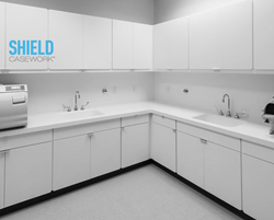 Image of Shield Casework solid surface cabinets