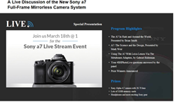 A Live Discussion of the New Sony a7 Full-Frame Mirrorless Camera System