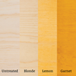 Comparison of Liberon Shellac Flake Colors - perfectly suited for antique restoration and custom furniture production.