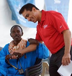 Dr. Dean in Senegal with the Starkey Hearing Foundation