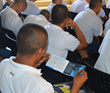 Students study the Truth About Drugs booklets at a recent seminar.  The Truth About Drugs initiative is supported by the Church of Scientology.