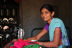 Former Devadasi Mahananda started her own sewing business