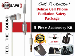 RFSAFE Deluxe 5 Piece Cell Phone Radiation Safety Accessory Package