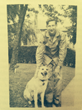 Private Andy Bergner with his German Shepherd, Don