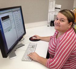 Carolina Trinidad, Design Student at HCC and TFI Envision, Inc. Intern
