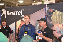 Pictured: Bryan Litz, founder of Applied Ballistics, and Todd Hodnett, President of Accuracy 1st