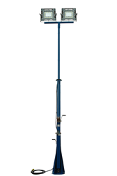 16 Foot Extendable Light Tower with Manual Crank Hand Winch