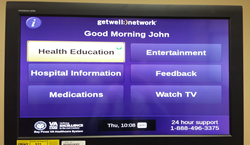 Photo of Interactive Patient Care System Home Screen.