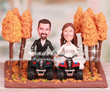 Four Wheelers Dirt Trail Riding in Woods Cake Toppers