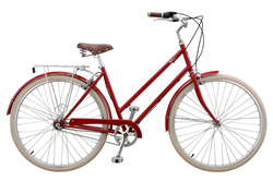 Brooklyn Bicycle Co. Willow 3 in Cardinal Red