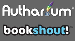 Autharium and Bookshout! logos