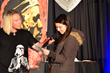 Maria Freitas '15 received an original Erik Wahl portrait.
