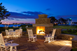 Hyatt Newport outdoor fireplace