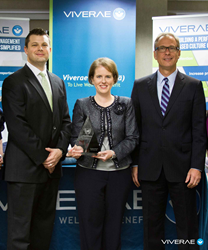 Pictured from left: Glen Tampke, Director of Client Services at Viverae; Jennifer Weinstein, Benefits, Compensation and HRIS Director at Ensign Services, Inc.; Mike Lamb, President and COO at Viverae.