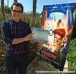 Actor Ty Burell with Certificate of Appreciation