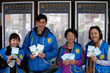 Volunteers from the Church of Scientology Mission of Taichung distribute The Way to Happiness at the Taichung Railroad Station.