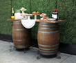 Wine Barrel Bar and Hedges
