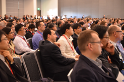 An attentive audience listens to plenary talks on the opening morning of SPIE Advanced Lithography.