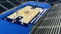Basketball Court produced by Connor Sports for the SEC Conference Basketball Tournament