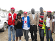 Norigene Foundation's Presdient Roselene Jean along with Red Cross Them in Haiti