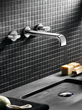 cifial 231.156.721 double handle widespread wall mount bathroom faucet with metal lever handles from the m3 series