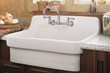 "American Standard 7295.152 Double Handle Wall Mounted Laundry Faucet with 5 5/8"" Spout and Soap Dish from the Heritage Collection"