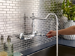 Opulence Two Handle Bridge Wall Mount Kitchen Faucet D416057 From Danze