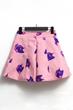 Cat Print Skirt, A-line Skirt