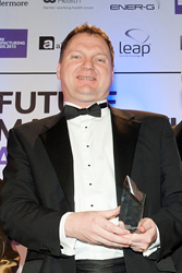 Advanced Insulation's Andrew Bennion at the recent EEF Awards
