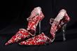 Pumps inspired by Maria Callas made of aluminum