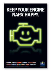 """Keep Your Engine NAPA Happy"" window cling posters"