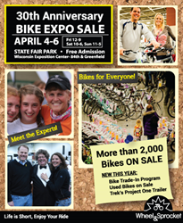 2014 Bike Expo Sale, Milwaukee bike sale, Bicycle sale in Milwaukee