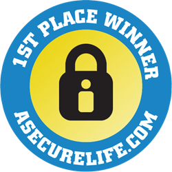 ASecureLife.com Best Home Security System Winners Gold Seal