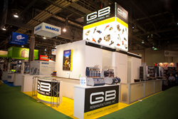 GB Remanufacturing trade show display at AAPEX Las Vegas