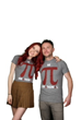 Chris Hardwick and Chloe Dykstra in Nerdist PI shirts by Her Universe for Hot Topic