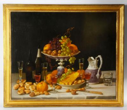 "John F. Francis (American, 1808 – 1886), ""A Wine Taster's Table"", oil on canvas"