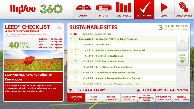 Qa graphics helps hy vee engage consumers on sustainable for Green building features checklist