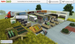 Sustainable website created by QA Graphics shows 3d model of store interior.