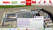 Sustainable Building Dashboard illustrates 3D model of grocery store interior and shows where sustainable features are located throughout the store.